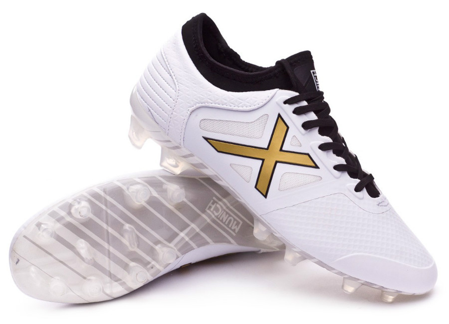 Munich Tiga FG Football Boots - White