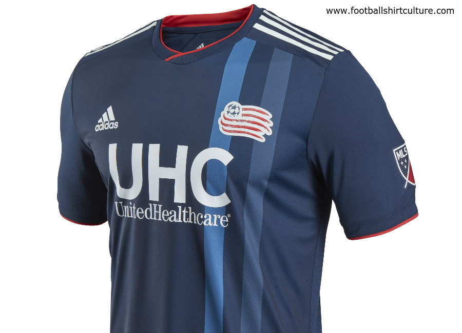 New England Revolution 2018-19 Adidas Home Kit