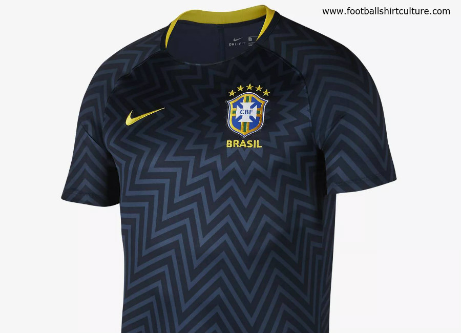 Nike 2018 brasil cbf dri fit squad football top armoury for Bucket squad gold shirt