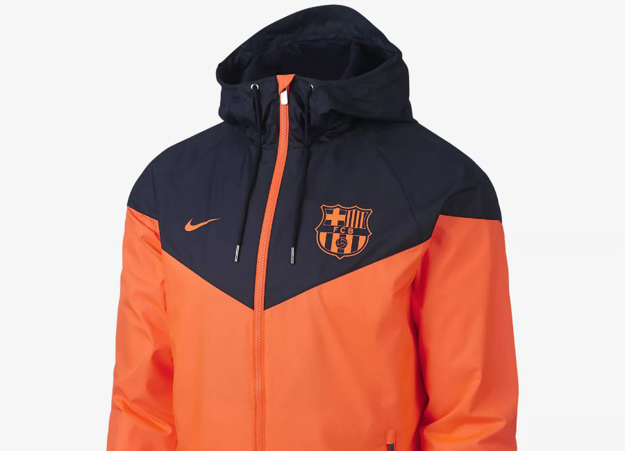 Nike FC Barcelona Authentic Windrunner - Hyper Crimson / Obsidian / Hyper Crimson
