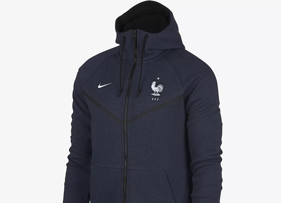 Nike France Tech Fleece Windrunner Jacket - Obsidian Heather / White