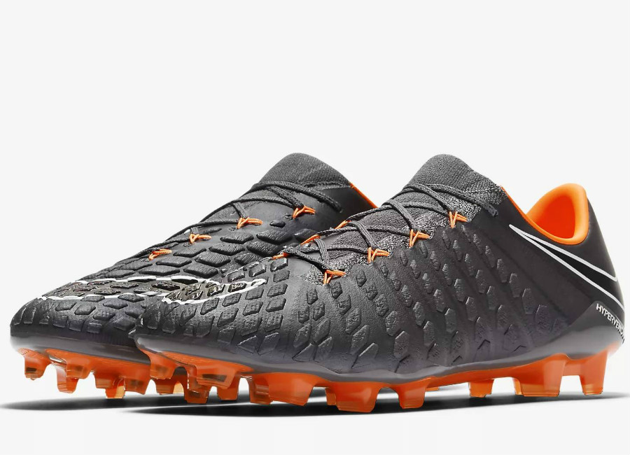 Nike Hypervenom Phantom III Elite FG Fast AF- Dark Grey / White / Total Orange