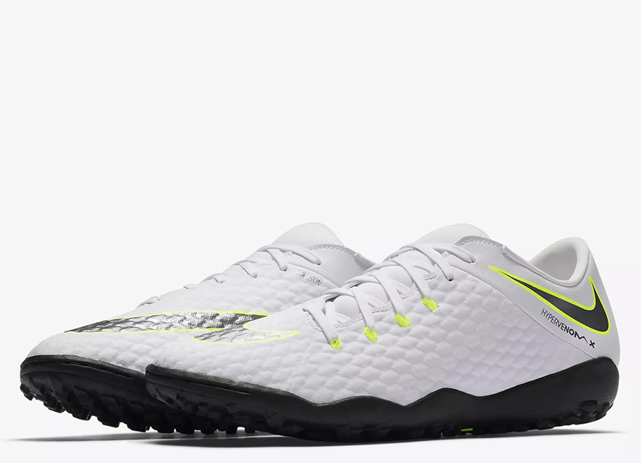 Nike HypervenomX III Academy TF Just Do It Pack - White / Volt / Metallic Cool Grey / Metallic Cool Grey