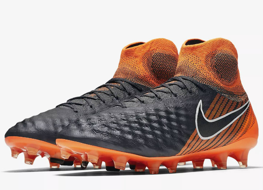 Nike Magista Obra II Elite Dynamic Fit FG Fast AF- Dark Grey / Total Orange / White / Black