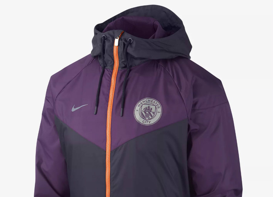 Nike Manchester City FC Windrunner - Purple Dynasty / Night Purple / Safety Orange