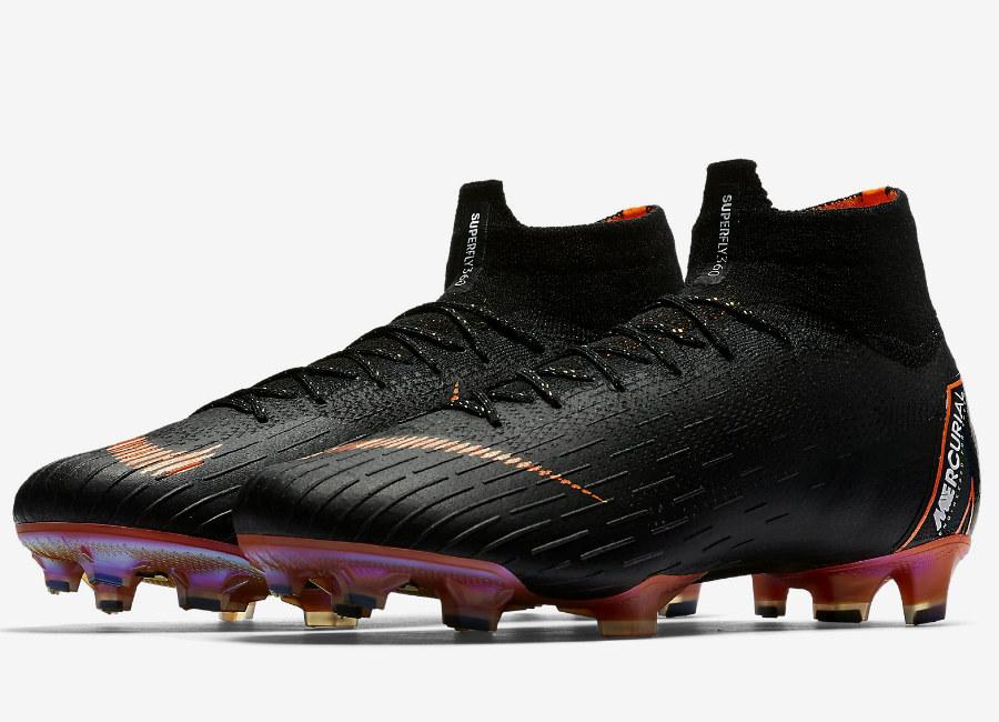 nike black and orange football boots