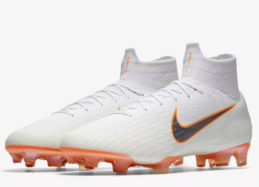 Nike Mercurial Superfly 360 Elite FG Just Do It Pack - White / Total Orange / Metallic Cool Grey