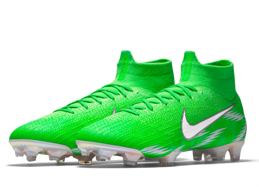 Nike Mercurial Superfly 360 Elite FG Naija Premium iD - Green Strike / White