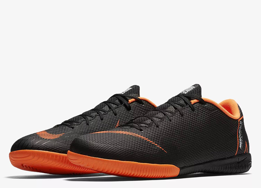 Nike MercurialX Vapor XII Academy IC - Black / White / Total Orange