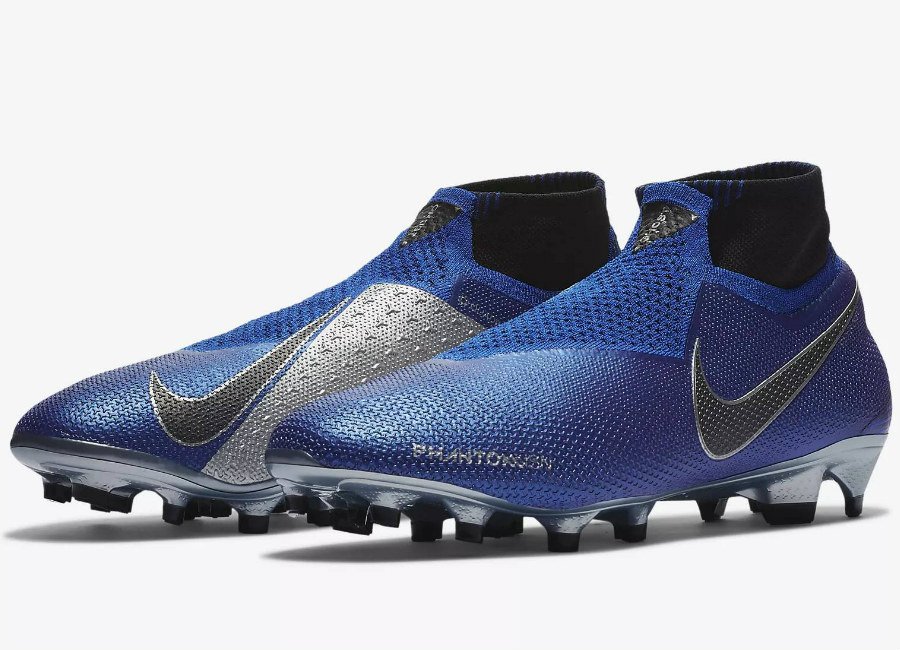 Nike Phantom Vision Elite DF FG Always Forward - Racer Blue / Metallic Silver / Volt / Black