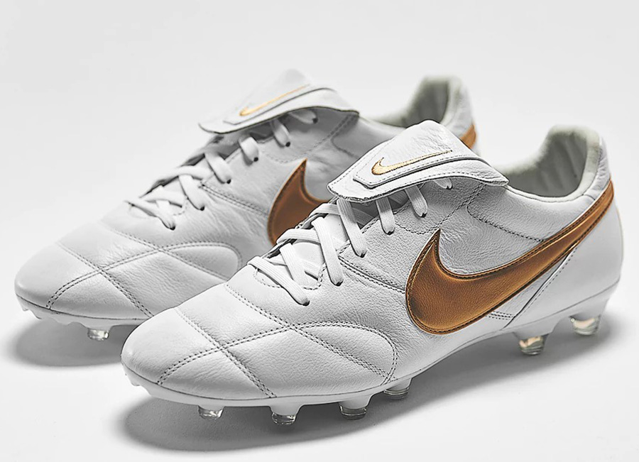 Nike Premier 2.0 FG - White / Metallic Gold / White
