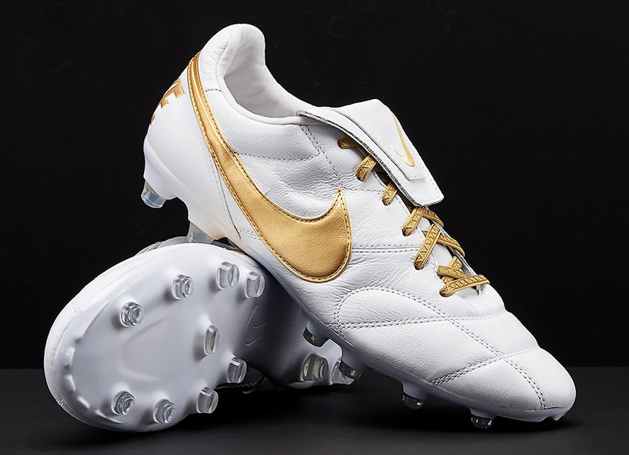 Nike Premier 2.0 AMO FG - White / Metallic Gold / White