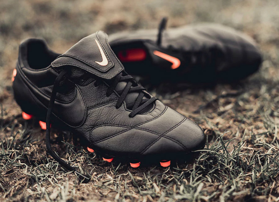 Nike Premier II FG - Black / Black / Total Orange