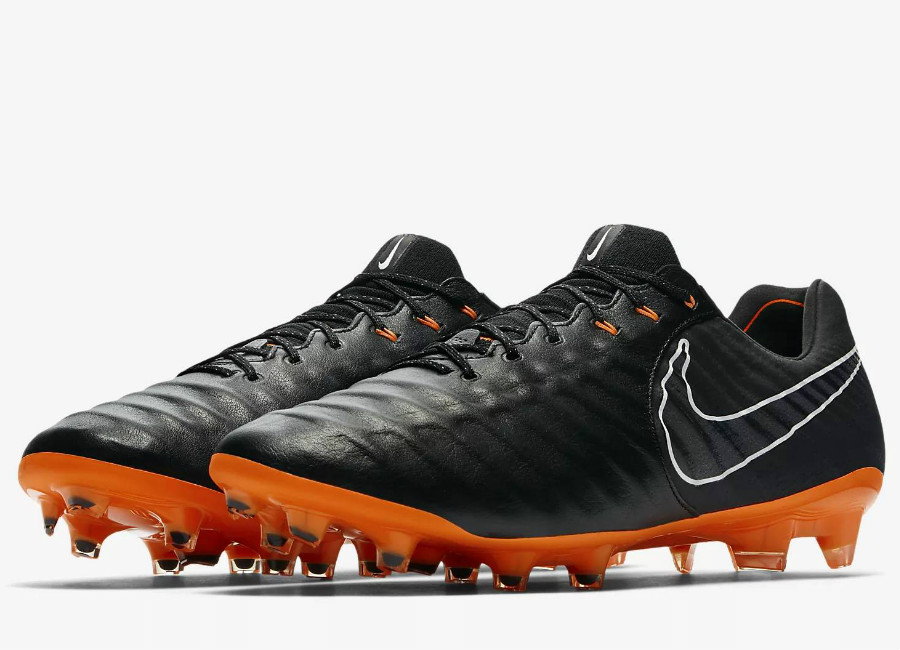 Nike Tiempo Legend VII Elite FG Fast AF - Black / Black / White / Total Orange