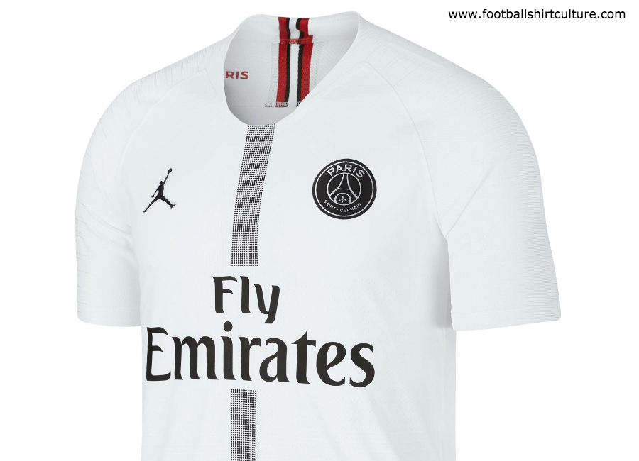 buy online c5ad2 bb02f Paris Saint-Germain 2018-19 Jordan Fourth Kit | 18/19 Kits ...