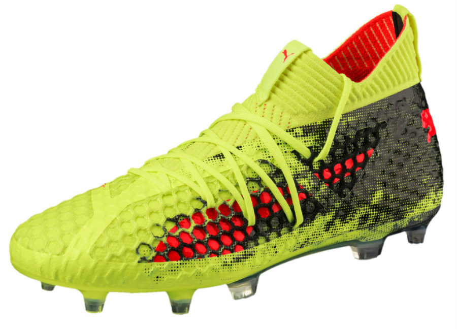 Puma Future 18.1 Netfit hyFG - Fizzy Yellow / Red Blast / Puma Black