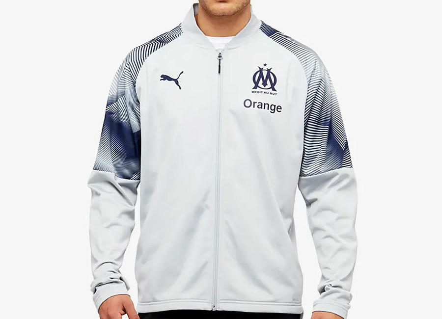 best service efb8c c7a2a Puma Olympique Marseille 2018/19 Stadium Jacket - High Rise ...