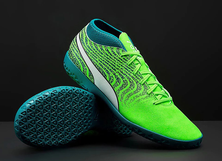 Puma  One 18.4 IT - Green Gecko / Puma White / Deep Lagoon