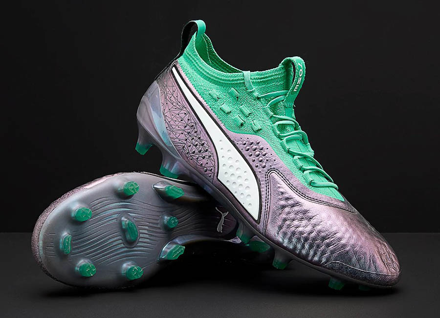 Puma One 18.1 World Cup Lth FG/AG - Colour Shift / Biscay Green / Puma Black
