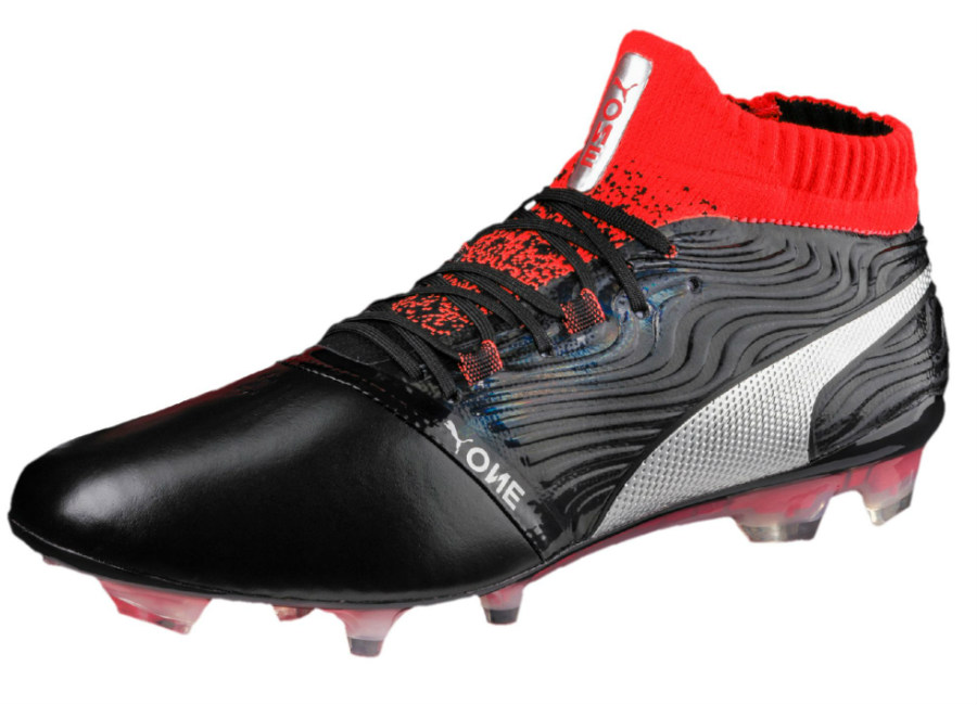 Puma One 18.1 FG - Puma Black / Puma Silver / Red Blast