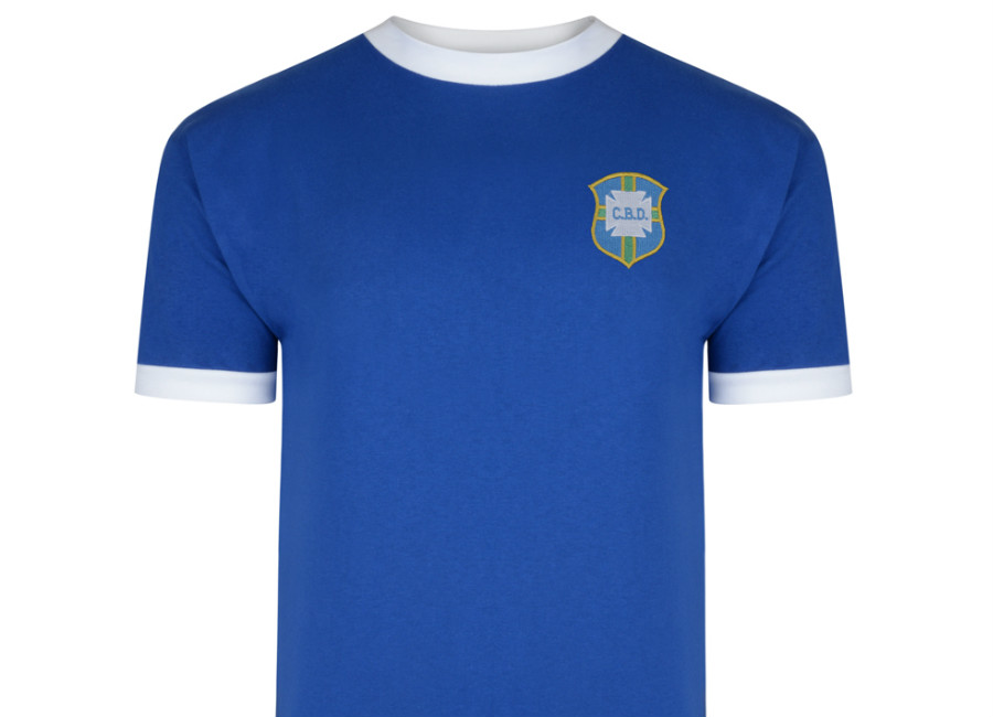 Score Draw Brazil 1970 World Cup Finals Away Retro Shirt