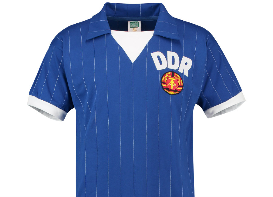 Score Draw East Germany 1983 Home Retro Shirt