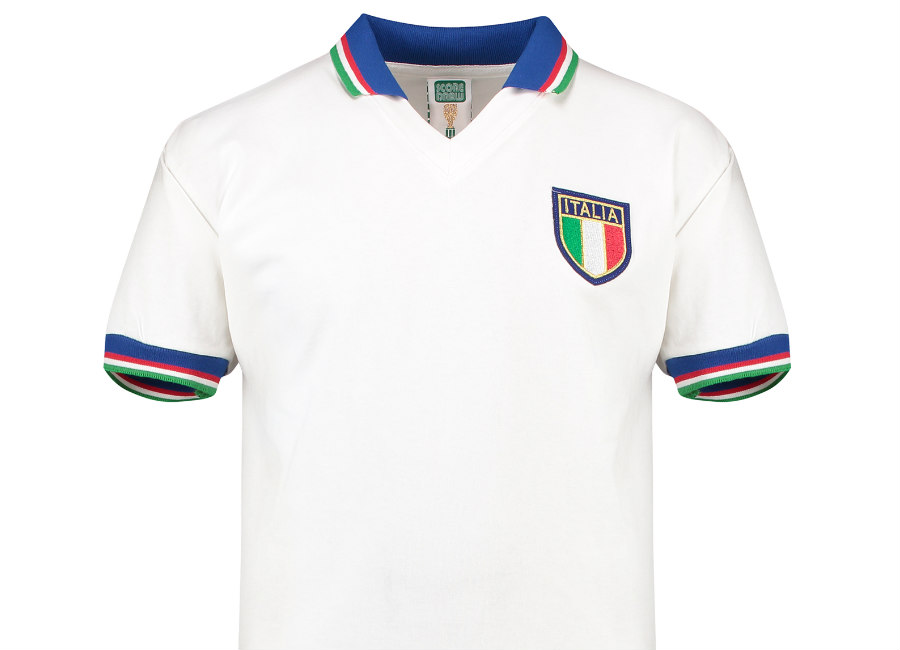 Score Draw Italy 1982 World Cup Finals Away Retro Shirt