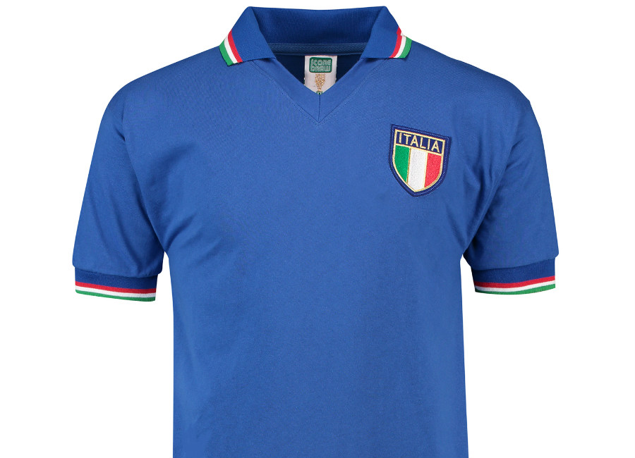 Score Draw Italy 1982 World Cup Finals Home Retro Shirt