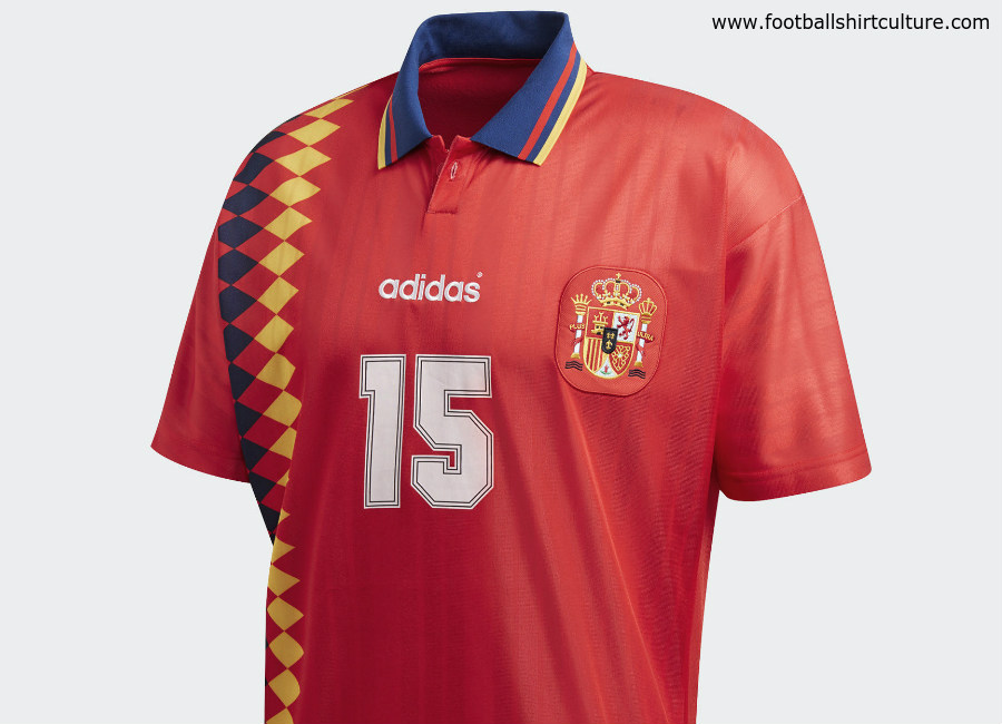 2f106ecb847 Spain 1994 Adidas Originals Home Replica Jersey | Retro | Football shirt  blog