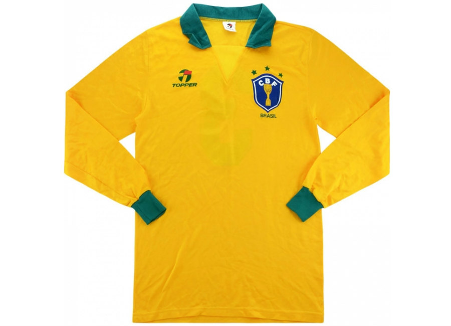 Topper 1991 Brazil Match Worn Home Shirt