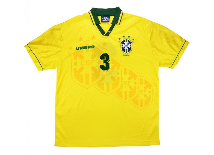Umbro 1995 Brazil Match Worn Umbro Cup Home Shirt