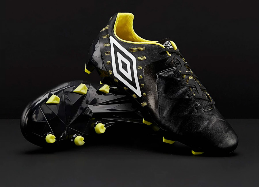 Umbro Medusae II Pro FG - Black / White / Golden Kiwi