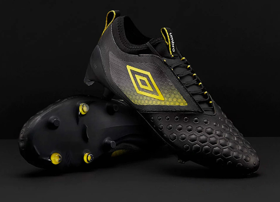 Umbro UX Accuro II Pro FG - Black / Golden Kiwi / White