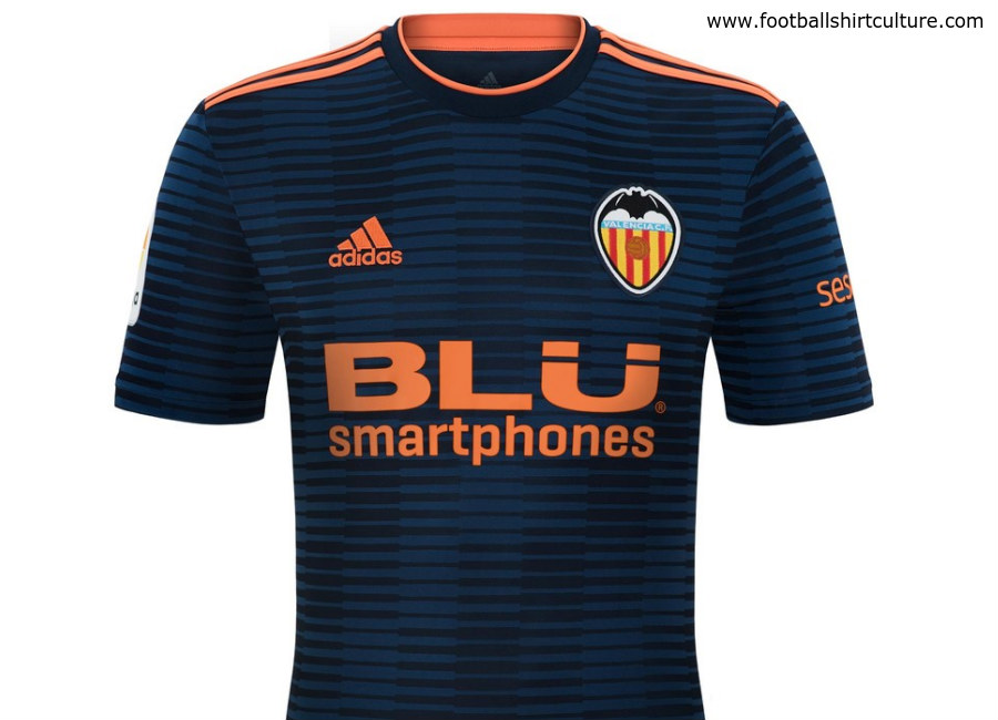 Valencia 2018-19 Adidas Away Kit