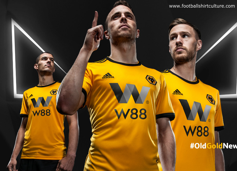 Wolves 2018-19 Adidas Home kit