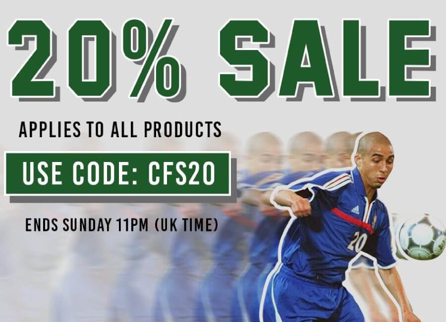 20% off everything until Sunday 24th March