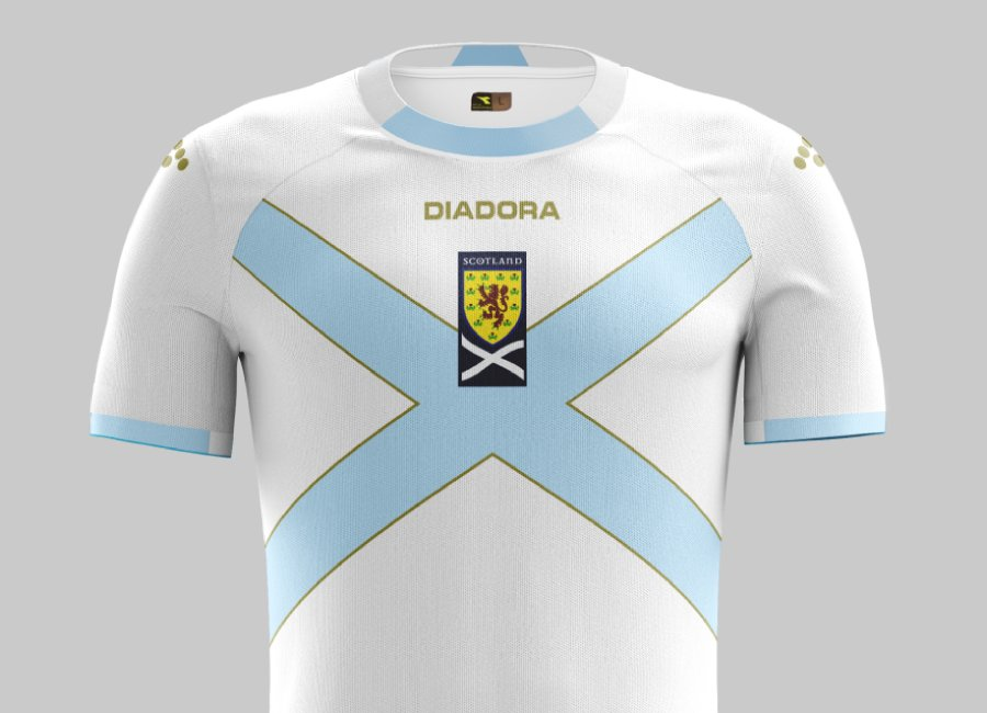 Top 35 #33 - Scotland 2007 Away Kit #scottishfootball