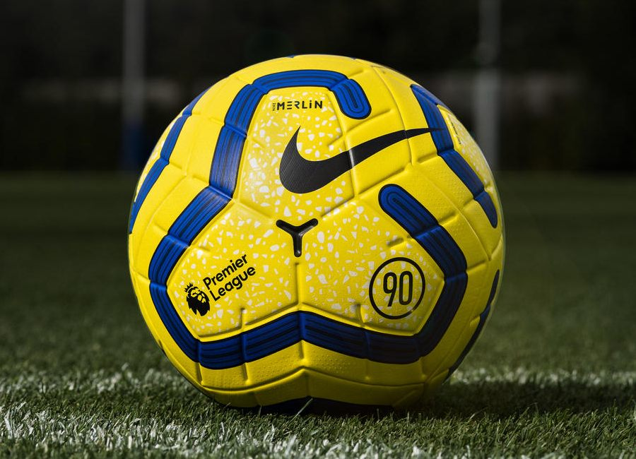Nike 2019-20 Merlin Premier League Winter Match Ball- Yellow / Blue / Black #PremierLeague #nikefootball