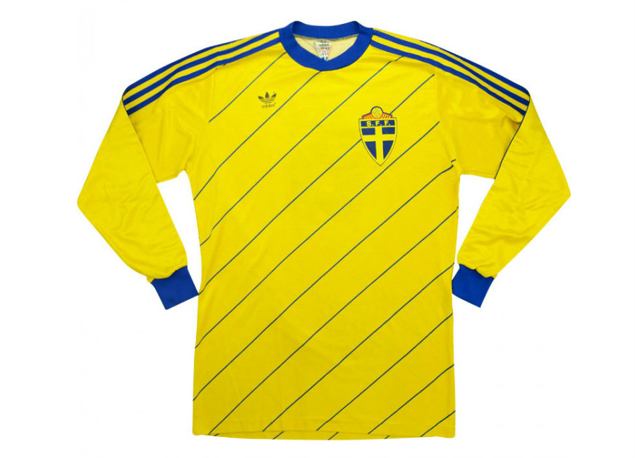 Adidas 1986 Sweden Match Worn Home Shirt #matchworn #SvFF #footballshirt