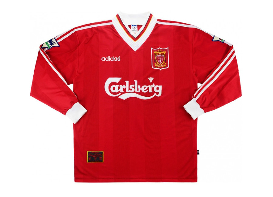 hot sale online 84a03 756b8 Adidas 1995-96 Liverpool Match Issue Home Shirt | Vintage ...