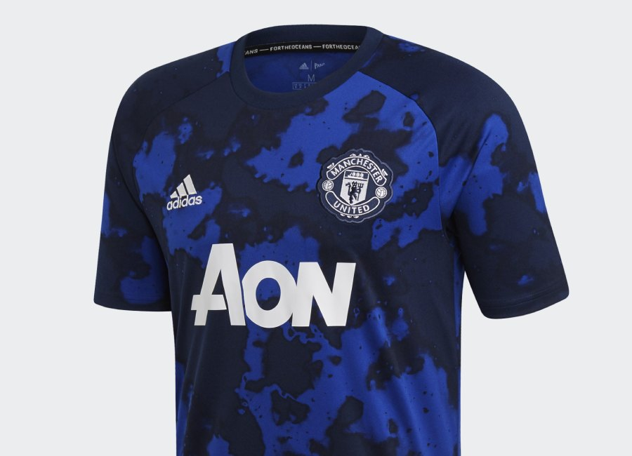 Adidas 19/20 Manchester United Pre-Match Jersey - Mystery Ink / Collegiate Navy #mufc #adidasfootball