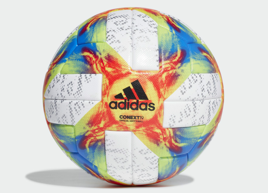 Adidas Conext 19 Official Match Ball - White / Solar Yellow / Solar Red / Football Blue
