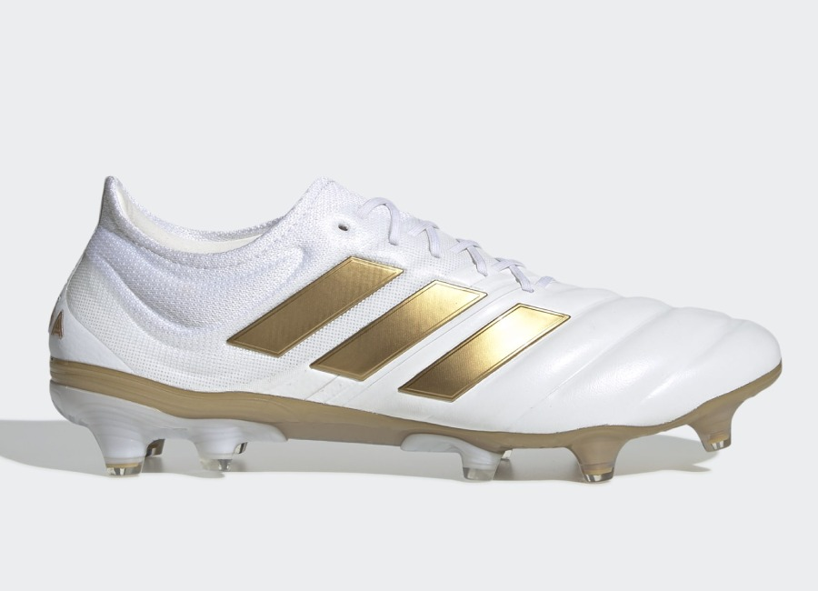 Adidas Copa 19.1 FG Input Code - Cloud White / Gold Met / Football Blue #Adidasfootball #footballboots #adidassoccer