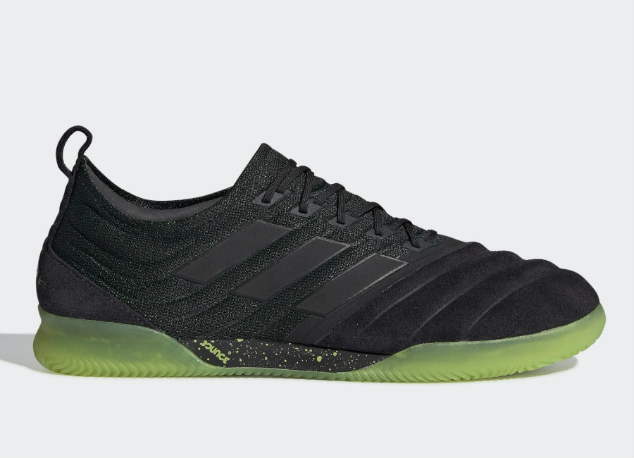 Adidas Copa 19.1 IN Shoes - Core Black / Core Black / Solar Yellow #Futsal #Adidasfootball #Adidassoccer