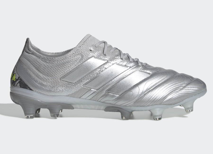 Adidas Copa 20.1 Encryption - Silver Met / Silver Met / Solar Yellow #footballboots #adidasfootball #EncryptionPack
