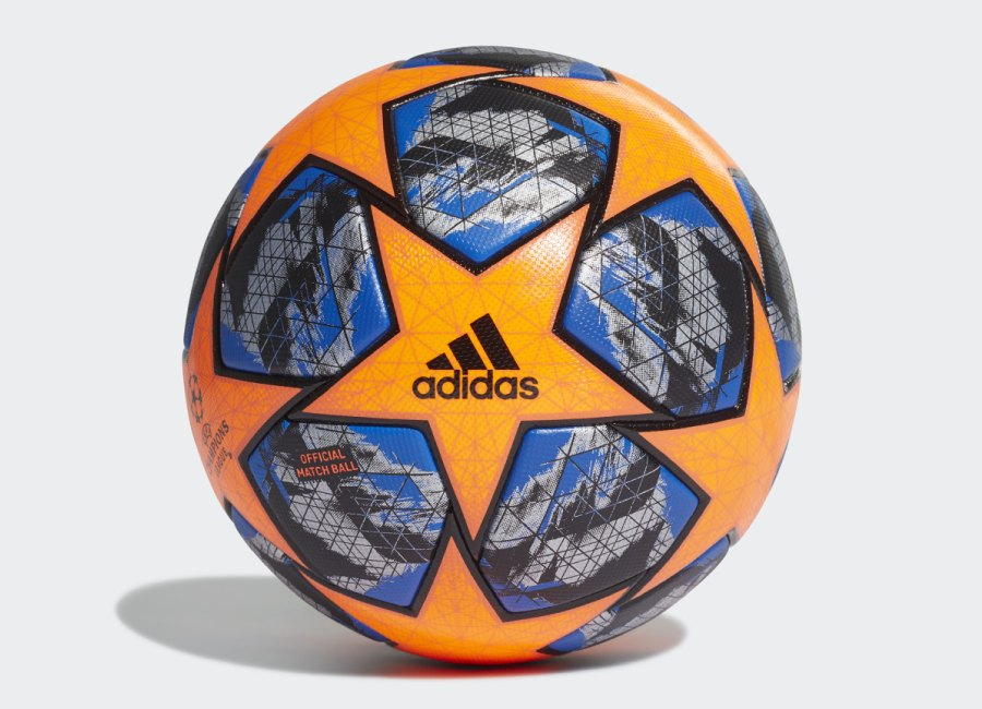 Adidas Finale UCL Winter Official Match Football - Solar Orange / Football Blue / Black / Silver Met #adidasfootball #adidassoccer