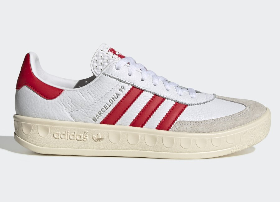 Adidas Manchester United Barcelona 99 Shoes - Cloud White / Scarlet / Cream White #ManchesterUnited #mufc #adidasfootball