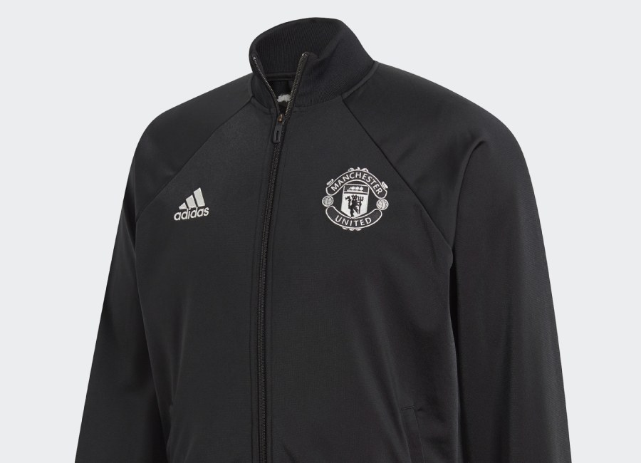 Adidas Manchester United Icon Jacket - Black #manchesterunited #adidasfootball #mufc