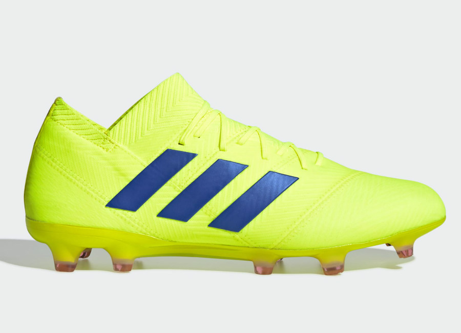 Adidas Nemeziz 18.1 FG Exhibit - Solar Yellow / Football Blue / Active Red #Adidasfootball #Footballboots