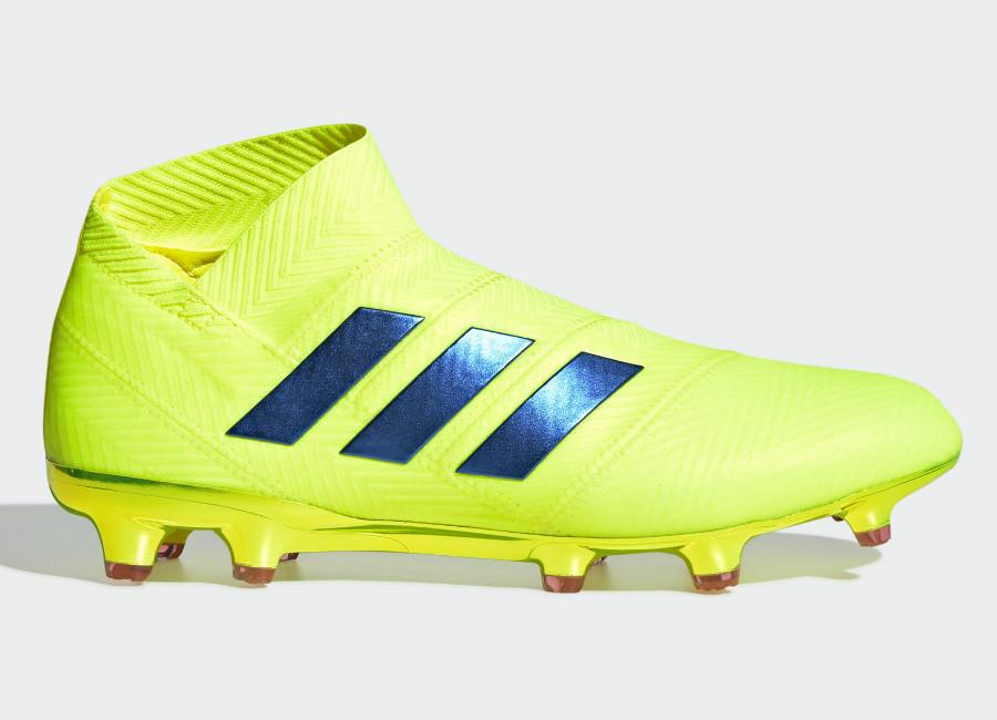 Adidas Nemeziz 18+ FG Exhibit Solar Yellow Football Blue